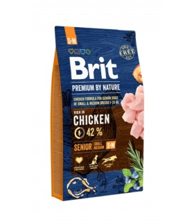Brit Premium By Nature Senior S-M 15 Kg